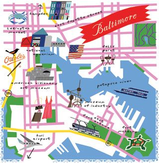 Baltimore, Maryland Map