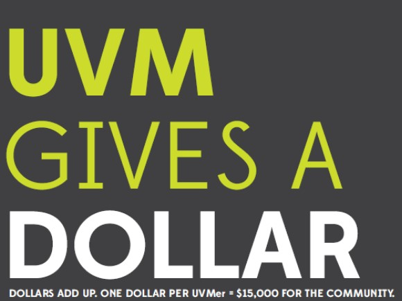 UVM Gives a Dollar Logo