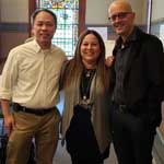 Photo of Mr. Fung, Ms. Avila, and Mr. Lahey