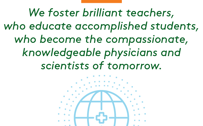 We foster brilliant teachers, who educate accomplished students