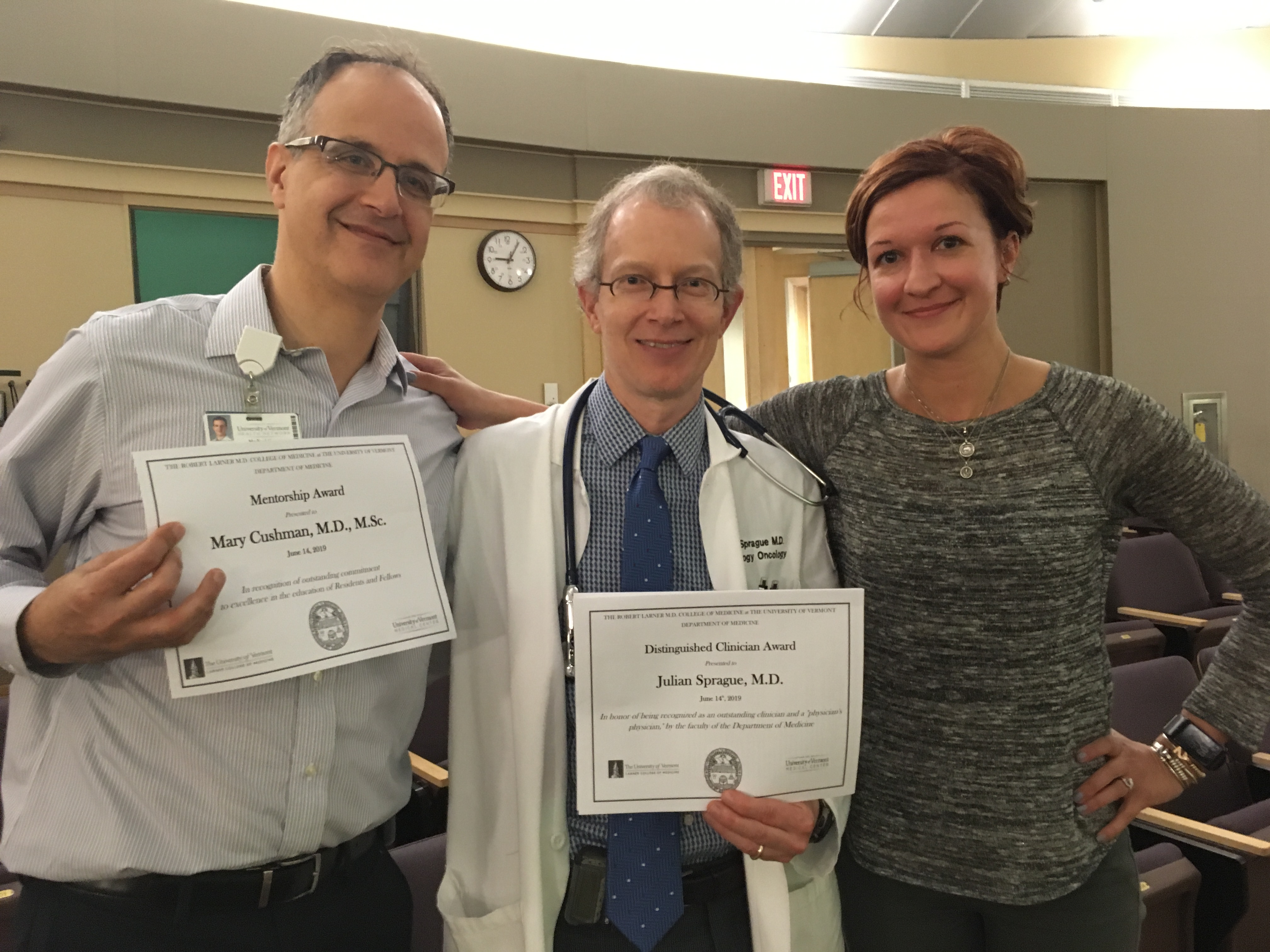 Dr. Cushman & Dr. Sprague mentorship award